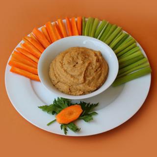 verduras con humus