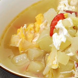 Sopa de Chayote en Caldillo