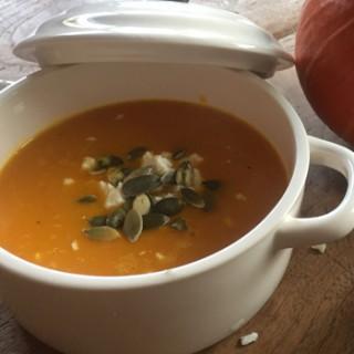 pumpkin soup sopa de calabaza