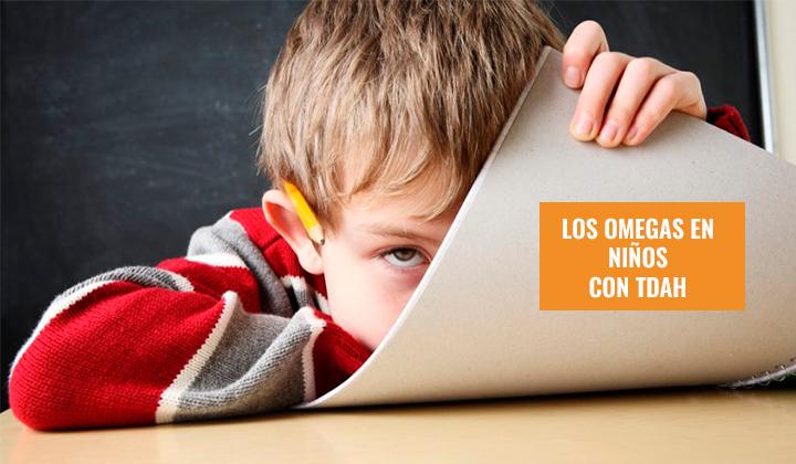 suplementacion omegas niños TDAH
